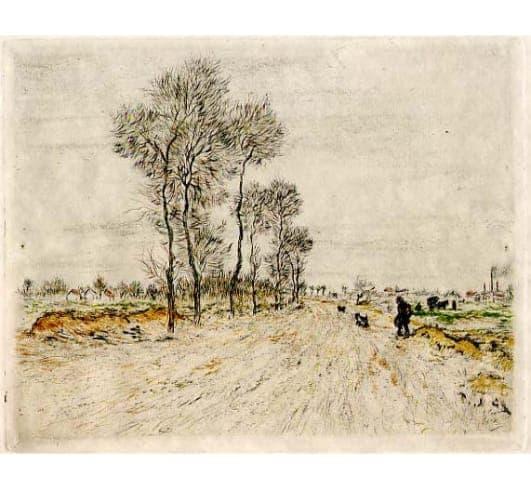 Jean-François Raffaëlli - La Route aux grandes arbres