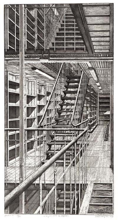 Érik Desmazières - Pl. 6 – Les Escaliers côté est