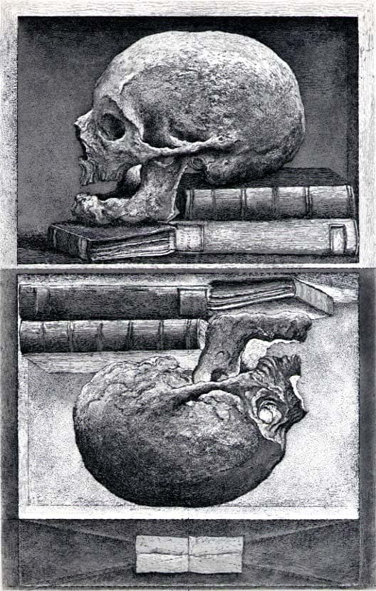Érik Desmazières - The Skull of Sir Thomas Browne