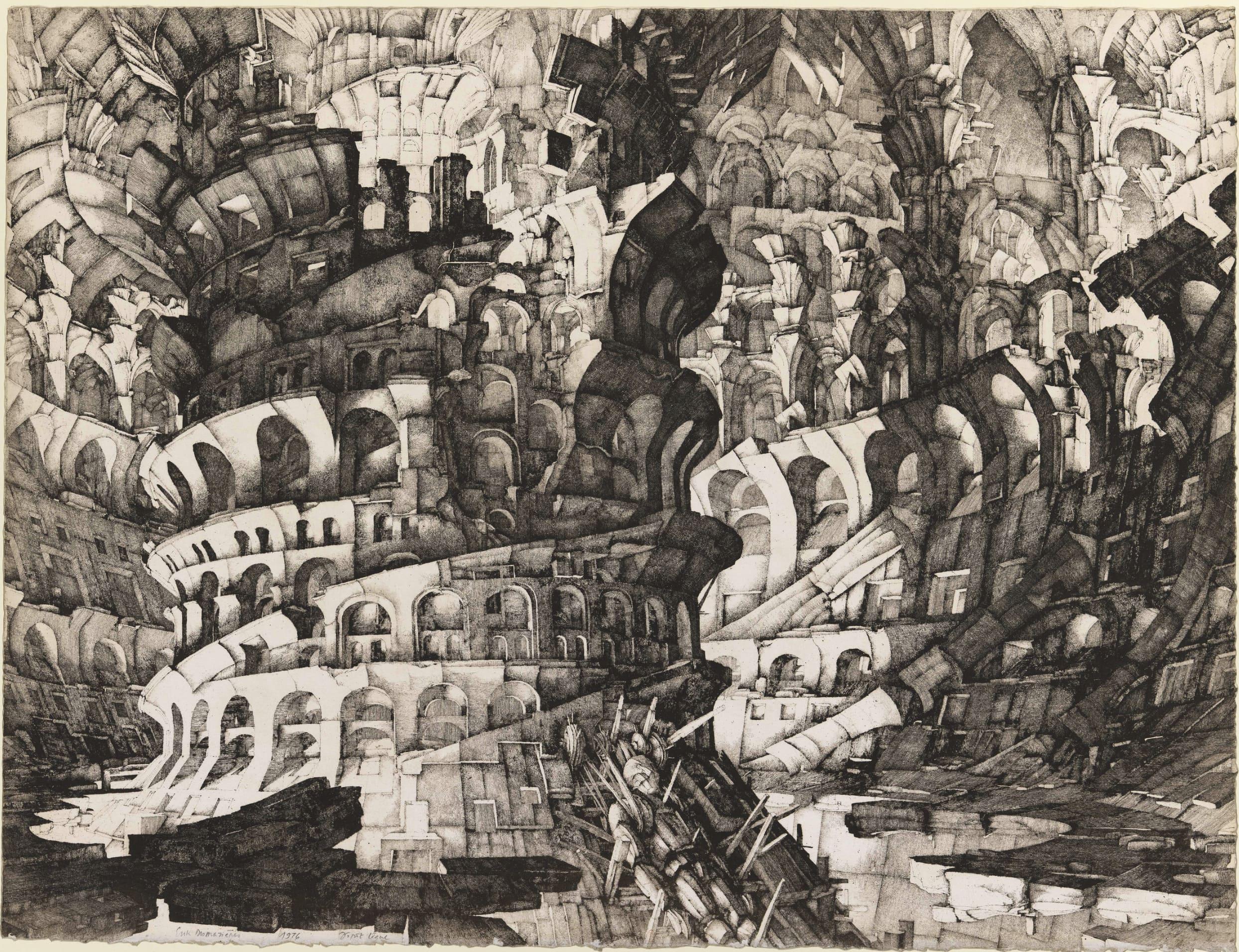 Érik Desmazières - La Tour de Babel