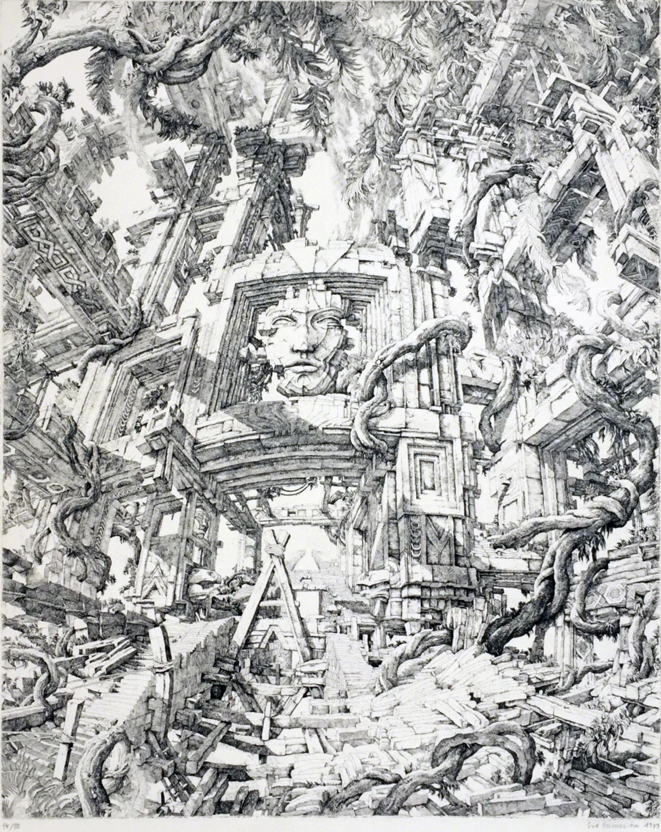 Érik Desmazières - Le Temple dans la Jungle