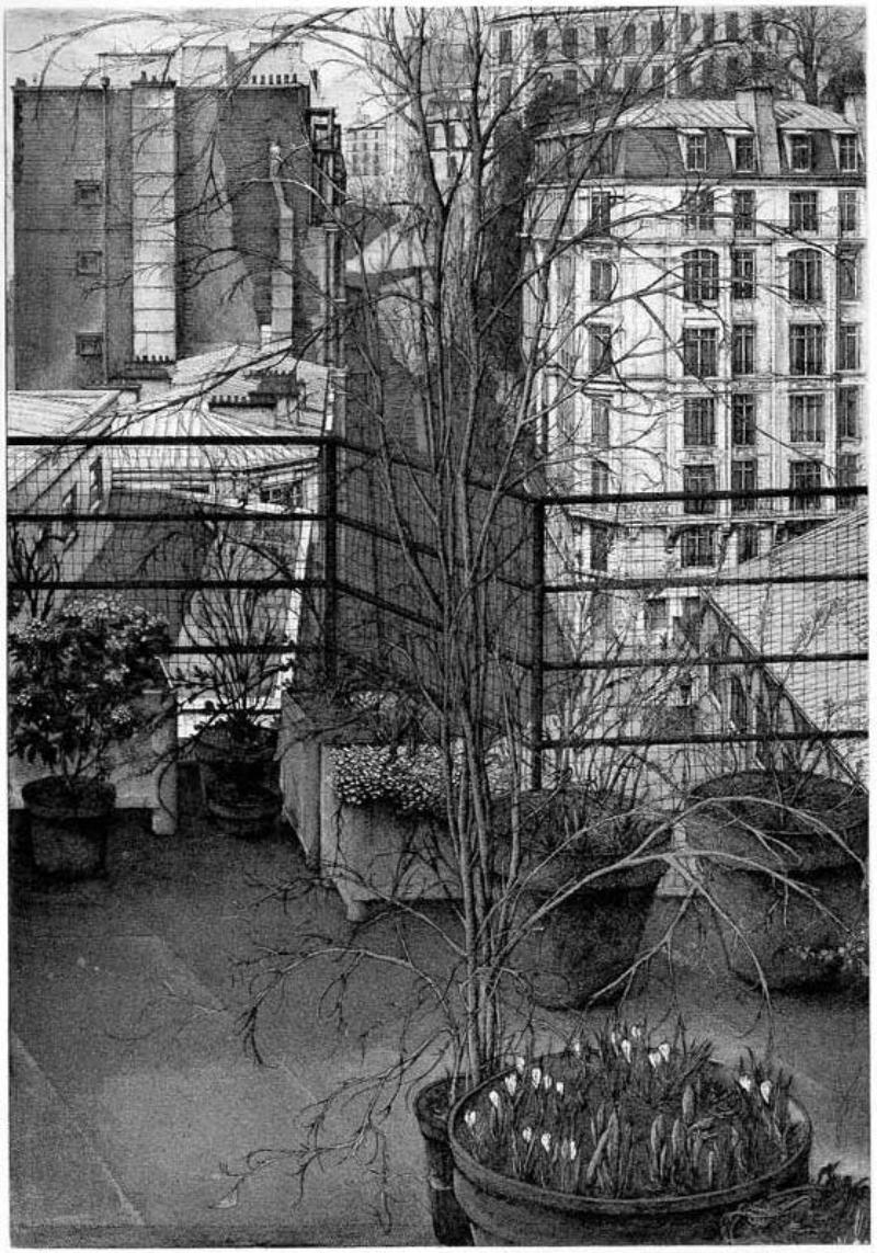 Érik Desmazières - La Rue Charles Nodier