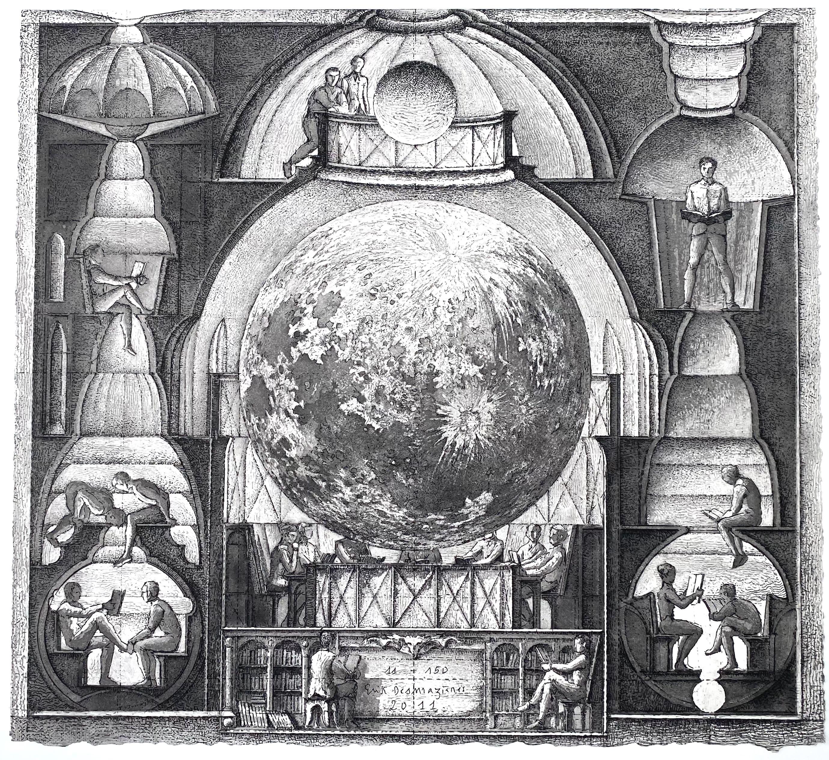 Erik Desmaziere - La Lune en ses quartiers