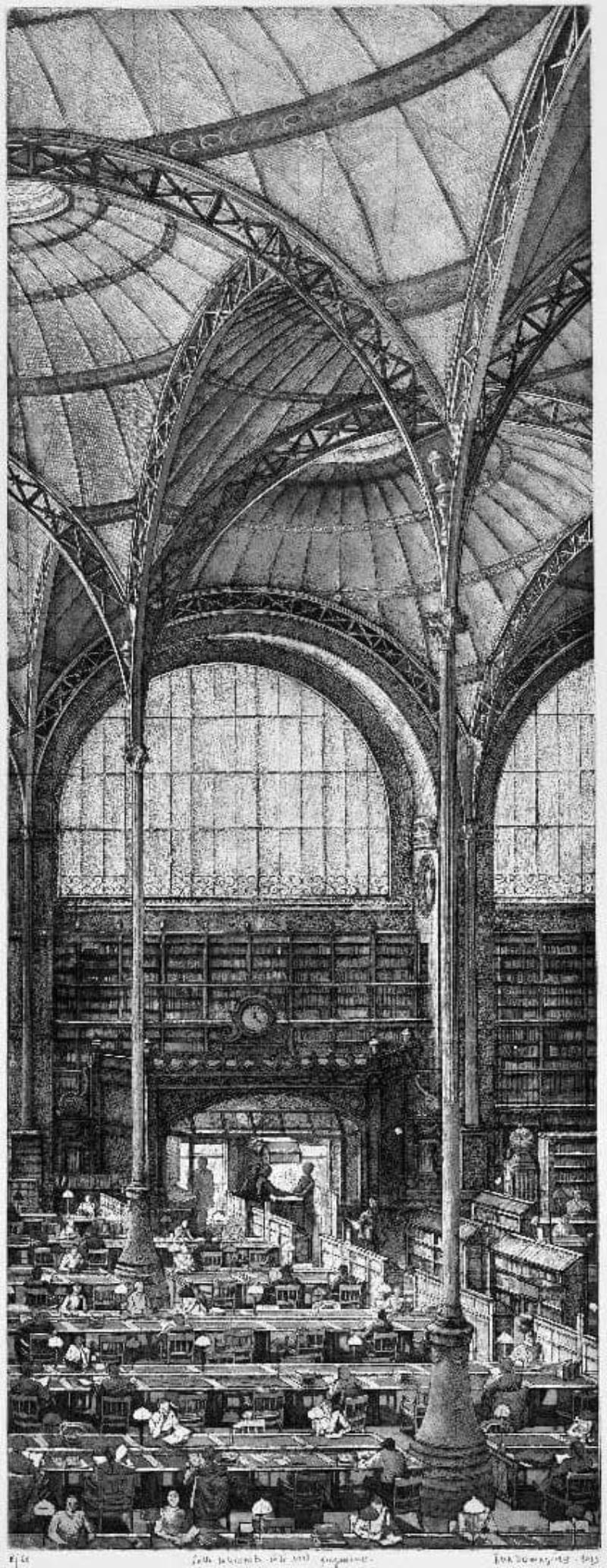 Érik Desmazières - Salle Labrouste, coté nord, fragment