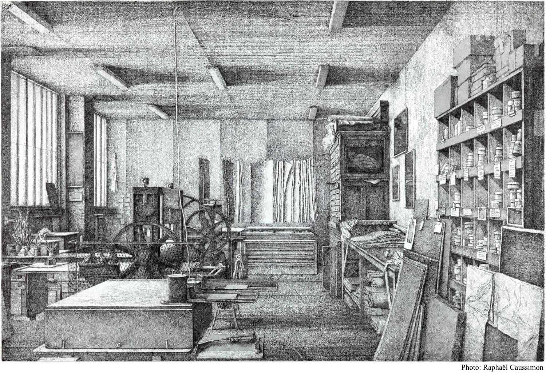 Érik Desmazières - Atelier, villa du Lavoir
