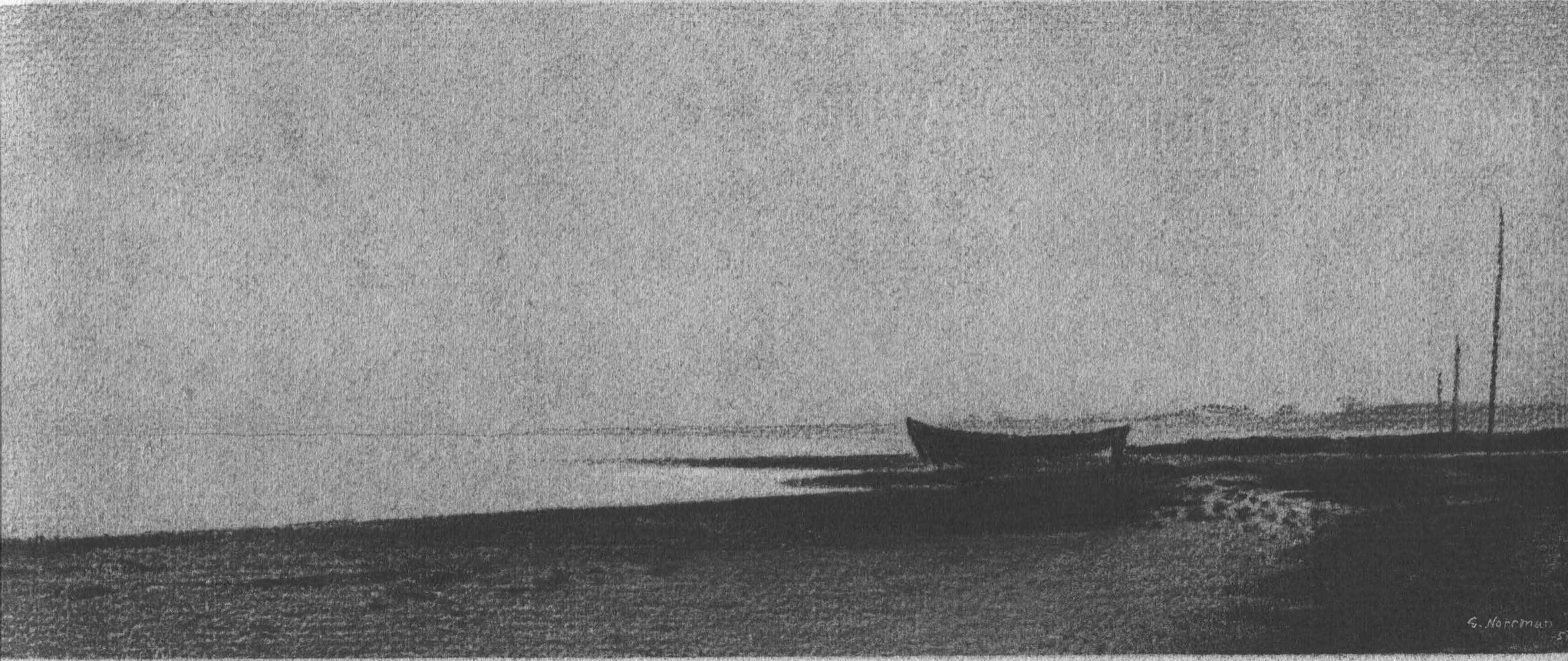 Gunnar Norrman - Båt på Stranden
