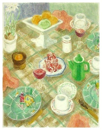 Janet Yake - Linen Table Cloth