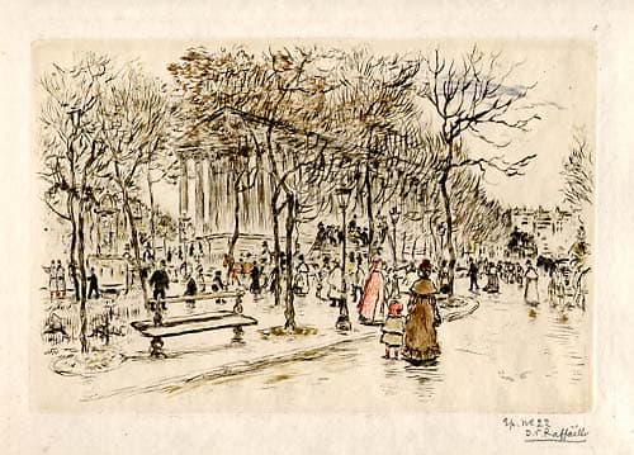 Jean-François Raffaëlli - Place de la Madeleine