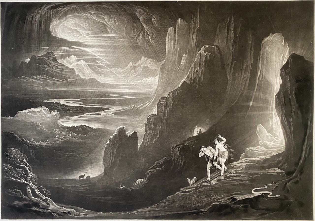 John Martin - Adam and Eve driven out of Paradise