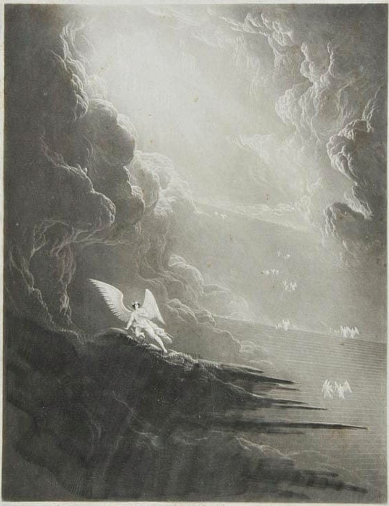 John Martin - Satan viewing the ascent to Heaven